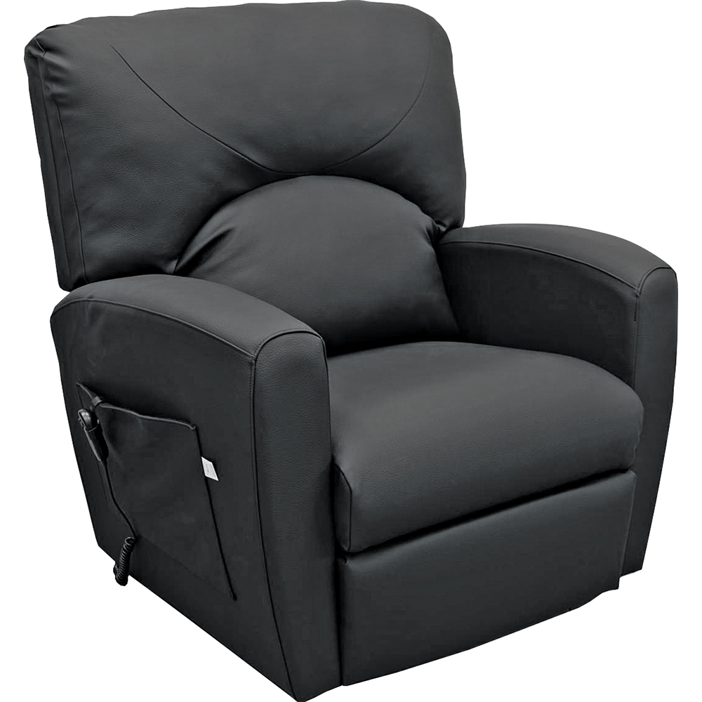 fauteuil releveur prestige xxl 1 moteur noir similicuir herdegen. Black Bedroom Furniture Sets. Home Design Ideas